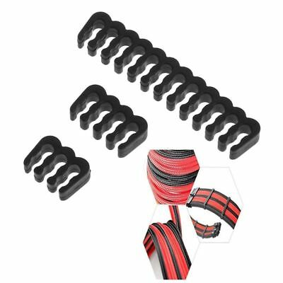 5PC PP Cable Comb /Clamp /Clip /Dresser For 3.0-3.2 mm Cables 6/8/24 Pin Black