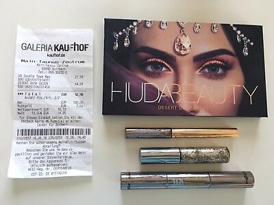 HUDA BEAUTY Desert Dusk + URBAN DECAY Eyeliner, Mascara Double Team Rechnung
