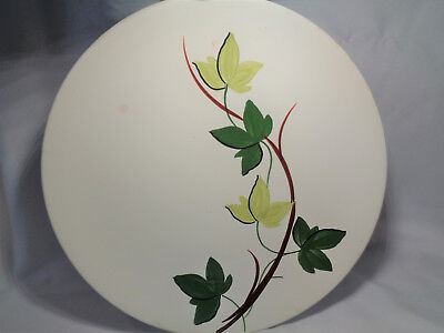 "Vintage Blue Ridge Pottery 10 1/4"" Dinner Plate Light Dark Green Ivy 11B"