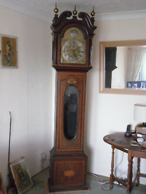 MAHOGANY GRANDFATHER/LONG CASE CLOCK  BY REID & Sons
