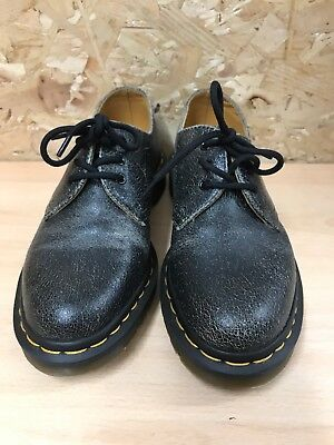 03542eee7b44c8 Dr Doc Martens Docs Size 4 Shoes 1461 Cracked Black Leather Vintage Style  EU 37