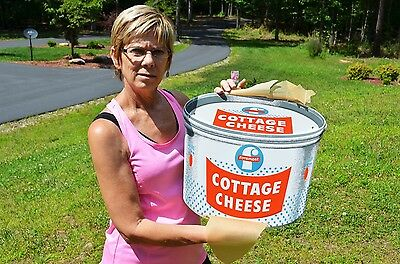 Vintage Foremost Cottage Cheese Embossed Dairy Sign Dead Mint Investment Pc