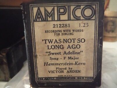 AMPICO Roll-Twas Not So Long Ago-Song  from musical-Sweet Adeline  212281