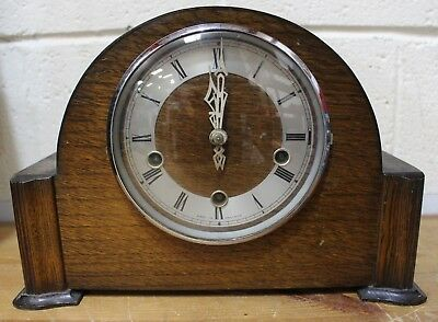 Vintage SMITHS ENFIELD 1950's Art Deco Style WOODEN Mantel Clock - 213