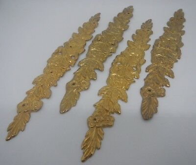 1989 Bombay Company Decorative Bow Roses Ormolu Brass Accent Pieces~ Qty 4