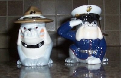 USMC Drill And Dress Salt And Pepper Shaker Set by The Bradford Exchange