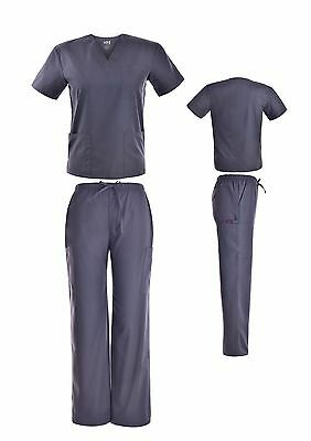 Medical Nursing PLUS SIZE Men Women Unisex Scrub Set Top Cargo Pants 3XL 4XL 5XL