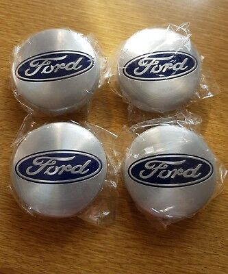 FORD 54mm Silver Alloy Wheel Centre Caps Fits Most Models Focus Fiesta Mondeo