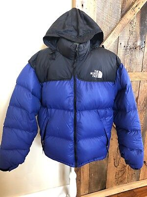 The North Face Nuptse 700 Fill Down Puffer Jacket Men s XL Vtg Black Hood  90s e38ccd39c
