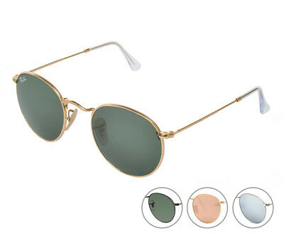d9549e959c1080 RAY-BAN RB3447-112-Z2 SUNGLASSES Unisex Pink Round Metal 50MM Gold ...