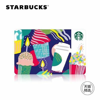 2018 New Starbucks China  Birthday Party Gift Card Pin Intact
