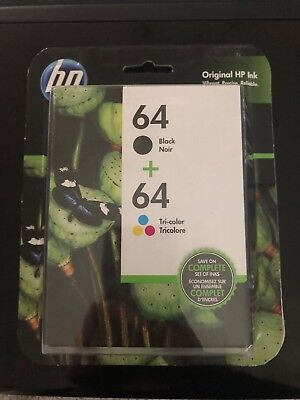 HP 62 Genuine Black & Color ink HP62 Combo Ink Cartridges New in box