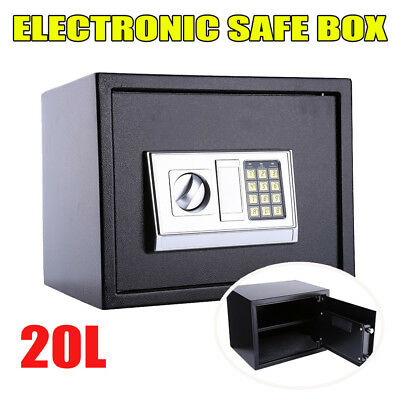 Home Storage Waterproof Safe Security Box Chest Fire Fireproof Lock Resistant