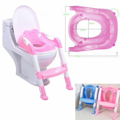 Trainer Toilet Potty Seat Chair Kids Toddler w/ Ladder Step Up Training Stool