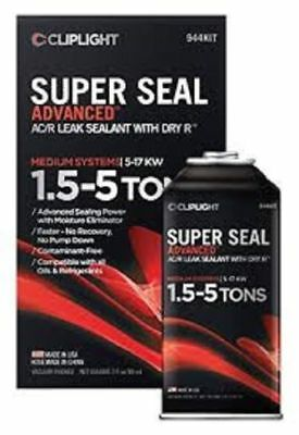 Cliplight Super Seal Adv 944Kit AC/R Stop Leak Dry R 1.5 to 5 Ton Systems