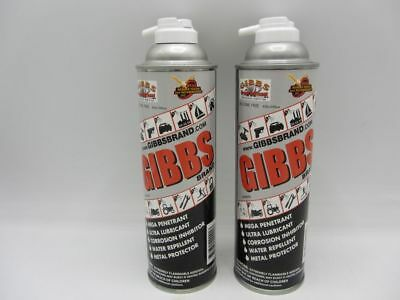 2 Cans Of Gibbs Brand Lubricant Penetrating Oil Cleaner Restorer Anti