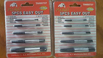 Screw Extractor Set Bolt Remover Easy Out Tool  2 packages of 5 pieces each