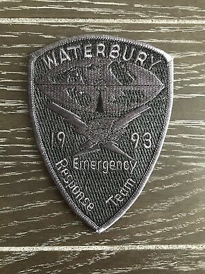 Waterbury Ct Connecticut Police Department Officer Patch Swat Ert Subdued