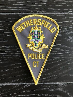 Wethersfield Ct Connecticut Police Department Officer Patch Triangle