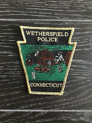Wethersfield Ct Connecticut Police Department Officer Patch Current Issue