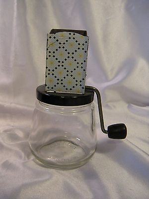 "Vintage ANDROCK Nut Grinder #49, Made in USA, ""Atomic"" Starburs Pattern, 1950's."