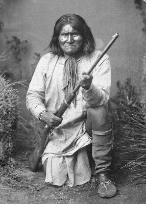 New 4x6 Photo: Geronimo, Leader of the Bedonkohe Apache Indian Tribe in 1887