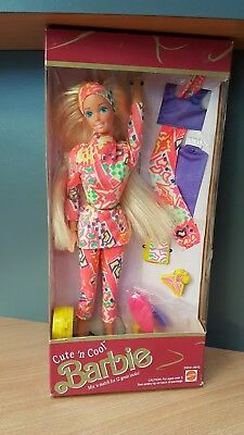 Cute n Cool Barbie Puppe Mattel 1991 Neu & Ovp NrfB 2954 Vintage Cute ´n Cool