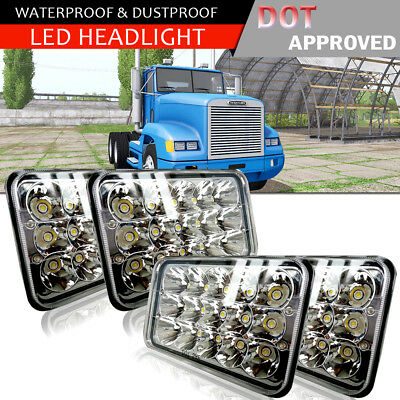 4pcs LED Headlights for Kenworth T400 W900B W900L T800 Classic 120/132 NEW