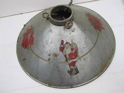 "Vintage Cream City Ware Tin Metal Christmas Tree 15"" Stand"