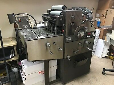 AB Dick 9850 2 color Offset Press with Kompac and T-51 Head