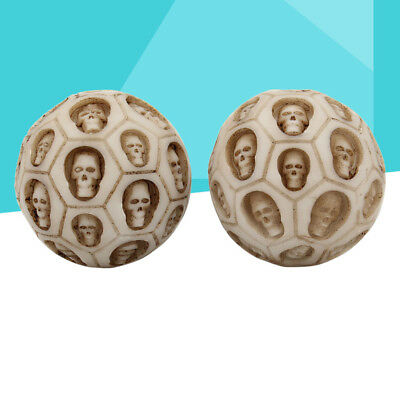 1PC Vintage Durable Creative Skull Fitness Ball Halloween Gift Stress Relief Toy