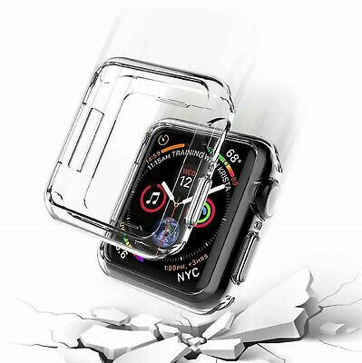 For Apple Watch Series 4 40mm / 44mm Clear Soft TPU Case Cover