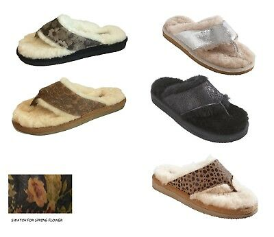 594739b1958 NEW Shepherd Ladies Real Sheepskin Mules Slippers Hard Sole Womens Toe Post
