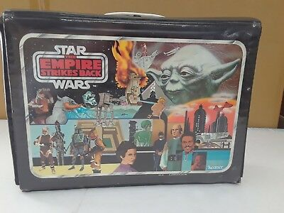 Vintage Star Wars Empire Strikes Back Vinyl Collector carrying case Complete! +