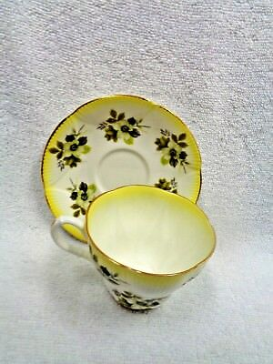 Royal Albert Horizon Series Gold Wash Edge Flowers Cup and Saucer