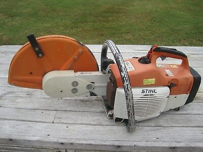Stihl TS 400 Cut-Off Saw Concrete Saw Made in Germany Starts and Runs Nice