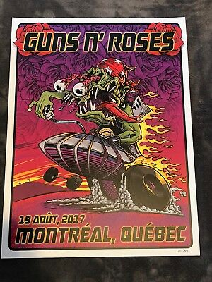 Guns N Roses Lithograph Not In This Lifetime Montreal, Quebec #130/300 8/19/17
