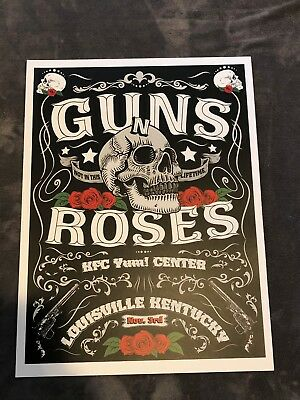 Rare Guns N Roses Lithograph Not In This Lifetime Louisville 11/3/17 AP