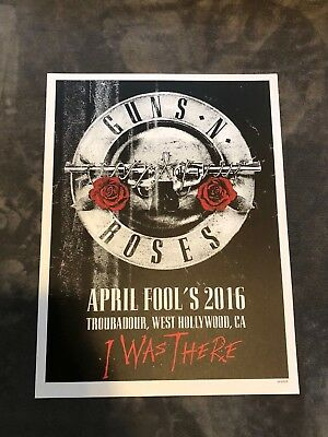 Guns N Roses Lithograph Not In This Lifetime West Hollywood, CA #274/400 4/1/16