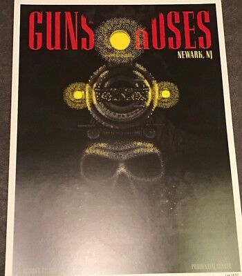 Guns N Roses Lithograph Not In This Lifetime Newark, NJ #161/250 10/12/17 Jersey