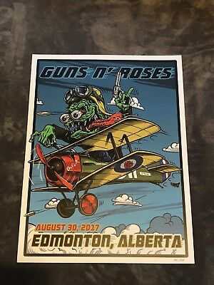 Guns N Roses Lithograph Not In This Lifetime Edmonton Alberta #451/500 8/30/17