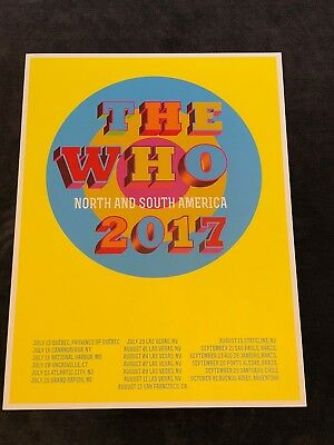 The Who Lithograph North and South American Tour 2017 Deadstock