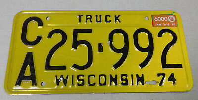 1980 Wisconsin truck license plate