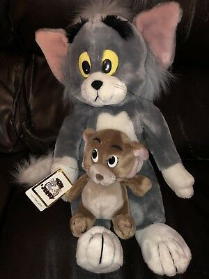 Vintage Tom And Jerry Plush Toys Stuffed Animals Cartoon Collectible Cat Mouse