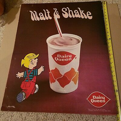 Vintage Dairy Queen Dennis the Menace 1972 poster