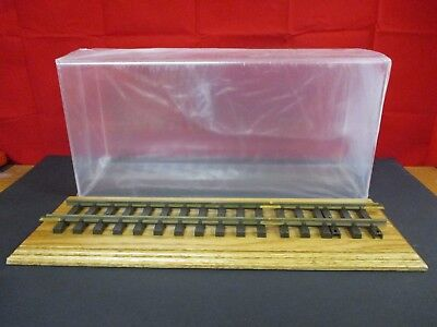 "Wood & Acrylic LGB G-Scale 20"" x 10"" x 7"" Train Display Case with Tracks #2"