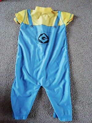 BOYS AGE 12-18 MONTHS ALL IN ONE SWIM SUN SUIT. Minions design