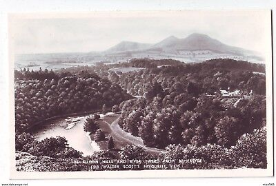 Vintage Postcard - Eildon Hills and River Tweed From Bemersye - Unposted 2502