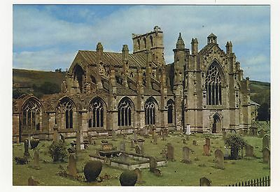 Old Postcard - Melrose Abbey, The Abbey Church - Unposted 0210