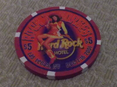 HARD ROCK HOTEL CASINO $5 Hotel Casino gaming chip  Las Vegas, NV